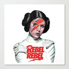 REBEL REBEL LEIA Canvas Print