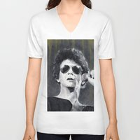 lou reed V-neck T-shirts featuring Lou Reed by Vikki Sin