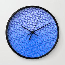 d20 Ice Blue Critical Hit Pattern Wall Clock