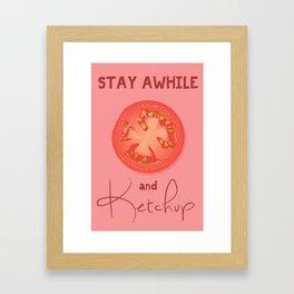 Let's Ketchup  Framed Art Print