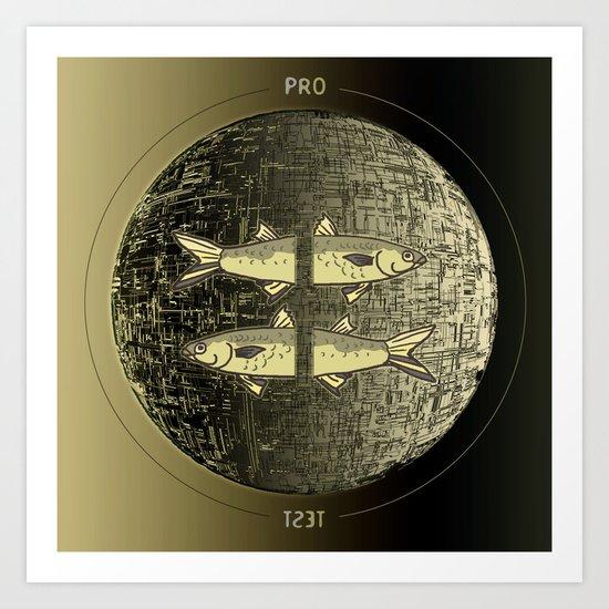Planetary Mood 5b / Vertical Divergence 10-02-17 Art Print