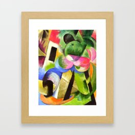 """Franz Marc """"Small Composition II also known as House with Trees) (Haus mit Bäumen) Framed Art Print"""