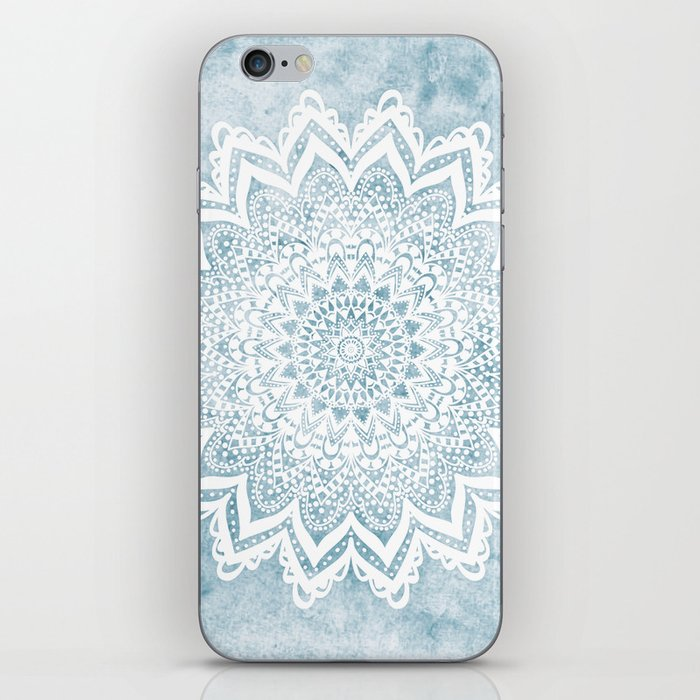 LIGHT BLUE MANDALA SAVANAH iPhone Skin
