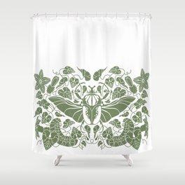 Beetle Bloom Shower Curtain