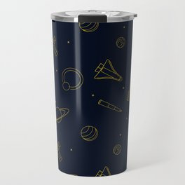 Pattern: Gold Space Travel Mug