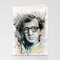 woody allen Stationery Cards featuring Woody Allen by Denise Esposito