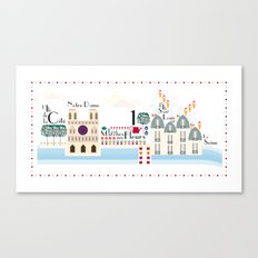 Paris _ les îles Canvas Print