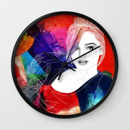 GIRL IN COLOR #03 Wall Clock