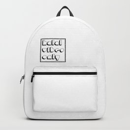 Halal vibes only - muslim, islamic Backpack