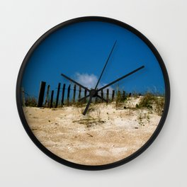 Over the Dune Wall Clock