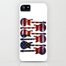 American Flag Guitar Art iPhone Case