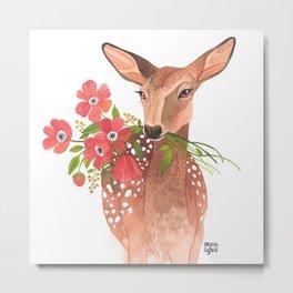 Lovely Deer Metal Print