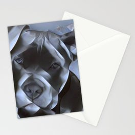 blue nose pit bull painting Stationery Cards