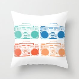 boom box colors Throw Pillow