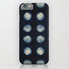 Shibori Moons iPhone Case