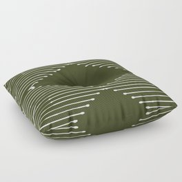 Geo (Olive Green) Floor Pillow