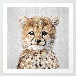 Baby Cheetah - Colorful Art Print