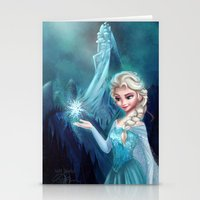 frozen elsa Stationery Cards featuring Elsa Frozen by This Is Niniel Illustrator