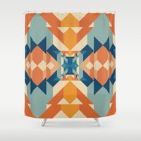 sacred geometry Shower Curtains featuring Sacred Geometry by defyeyes