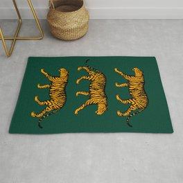 Tigers (Dark Green and Marigold) Rug