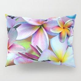 Rainbow Plumeria Pillow Sham