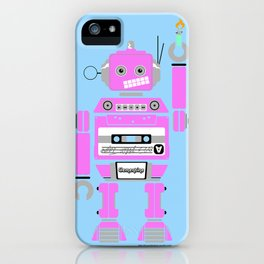 80s Mix Tape Robot - Clementine iPhone Case