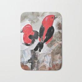 Scarlet Tanager  Bath Mat