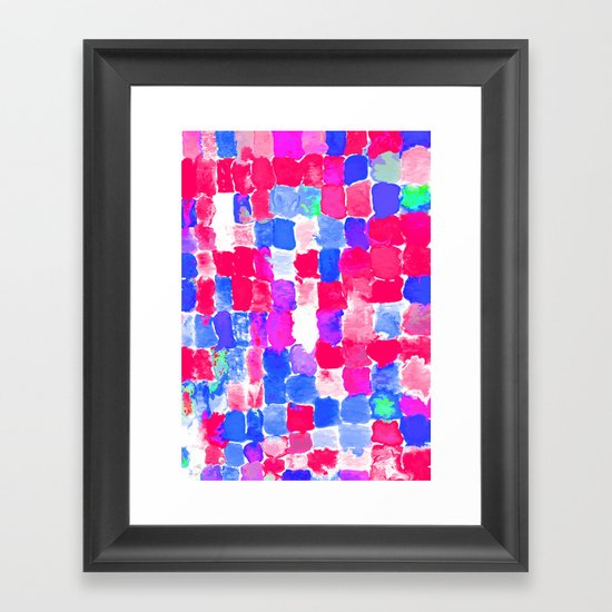 Painted Swatches: Freedom Framed Art Print