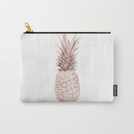 Pineapple Rose Gold Carry-All Pouch