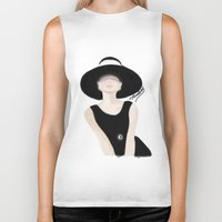 tiffany Biker Tanks featuring Breakfast Tiffany by carotoki