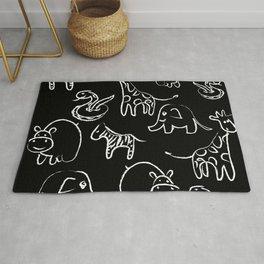 Animal Chalkboard Doodles Rug