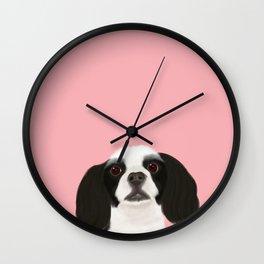 Best Pet Friend Black + White Cocker Spaniel Dog Wall Clock