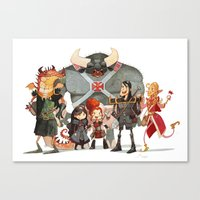 dungeons and dragons Canvas Prints featuring Dungeons and Dragons by Markus Erdt