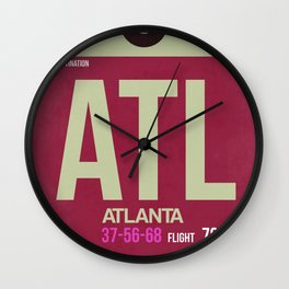ATL Atlanta Luggage Tag 2 Wall Clock