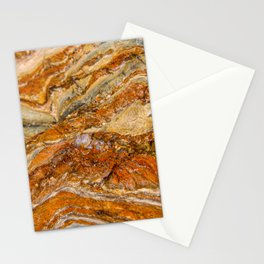 Orange Rock Texture Stationery Cards