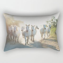 Camargue Horses XIII Rectangular Pillow