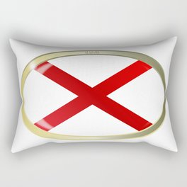 Alabama State Flag Oval Button Rectangular Pillow