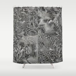 Optic kinetic art Shower Curtain