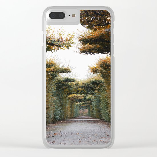Autumn in park Clear iPhone Case