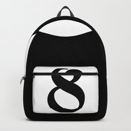 Eight ball pattern Backpack