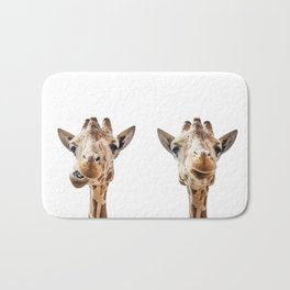 Funny Giraffe Portrait Art Print, Cute Animals, Safari Animal Nursery, Kids Room Poster, Wall Art Bath Mat