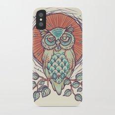 Owl on branch Slim Case iPhone X