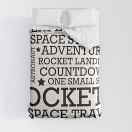 Space Text inspirational poster. Comforters