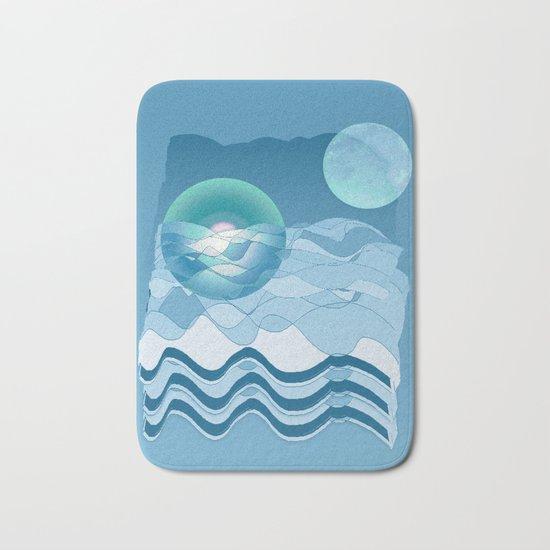 Sea Symphony in BLUE Bath Mat