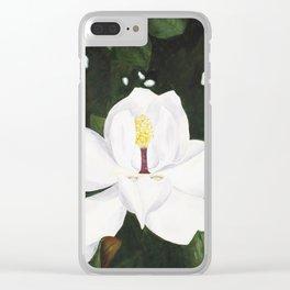 Magnolia I Clear iPhone Case