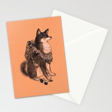 Shibe doge with mushrooms Stationery Cards