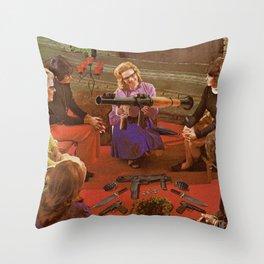 Aunt Daisy's Tea Party Throw Pillow