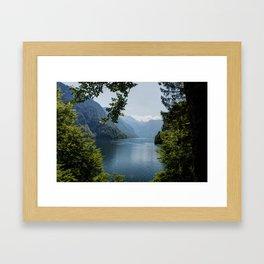 Germany, Malerblick, Mountains - Alps Koenigssee Lake Framed Art Print