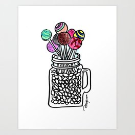 Oh, sweet! Cake pops Art Print
