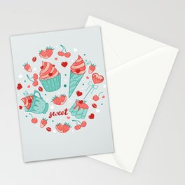 Valentine's sweets - Pastel Stationery Cards